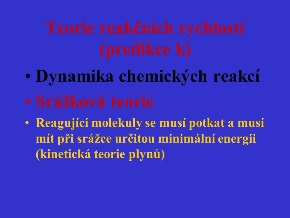 Teorie reakčních rychlostí (predikce k)