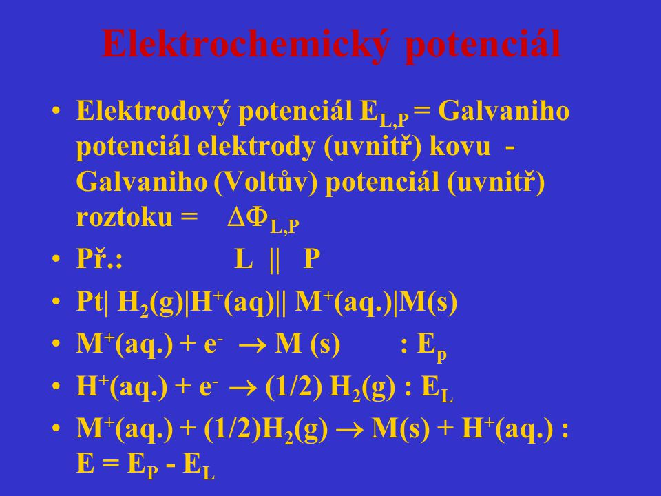 Elektrochemický potenciál