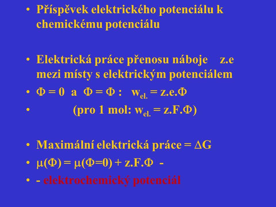 Příspěvek elektrického potenciálu k chemickému potenciálu