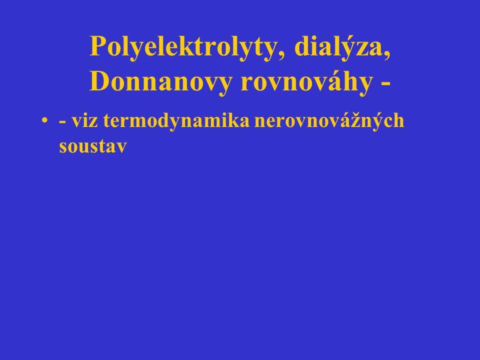 Polyelektrolyty, dialýza, Donnanovy rovnováhy -