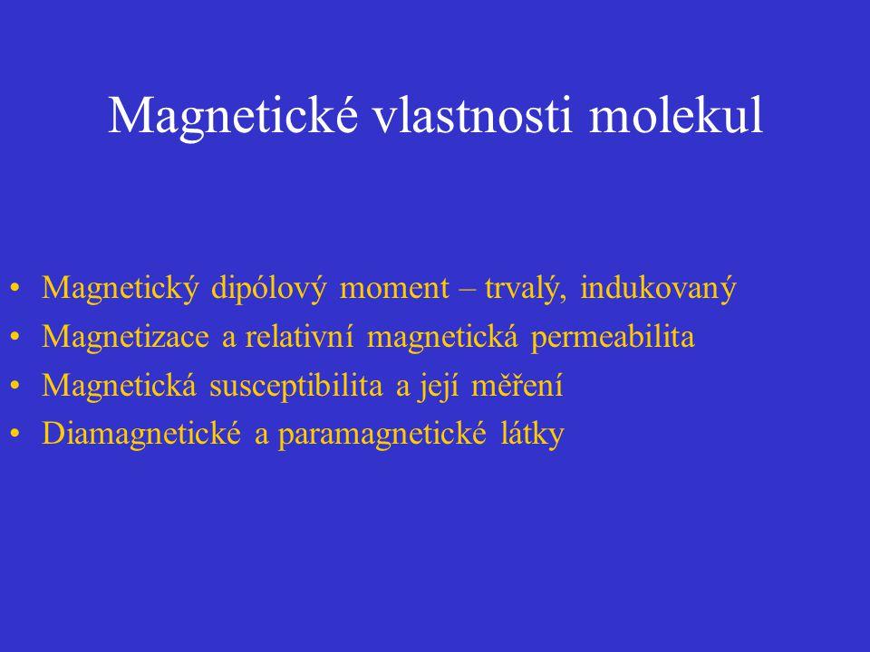 Magnetické vlastnosti molekul