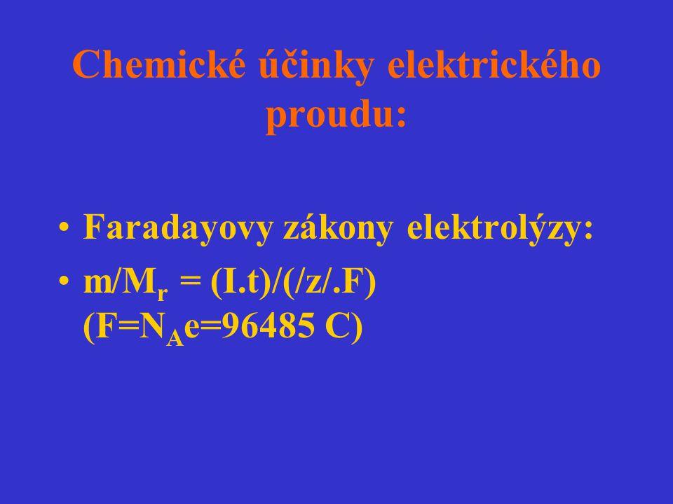 Chemické účinky elektrického proudu: