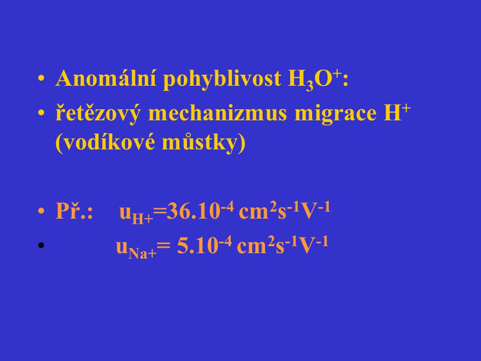Anomální pohyblivost H3O+: