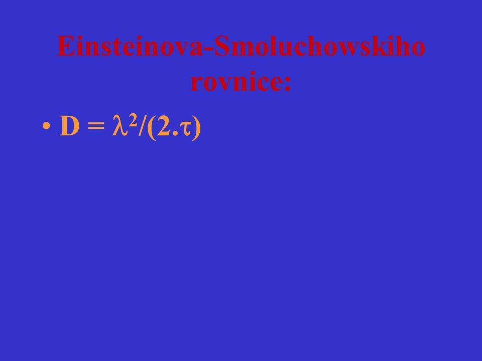 Einsteinova-Smoluchowskiho rovnice:
