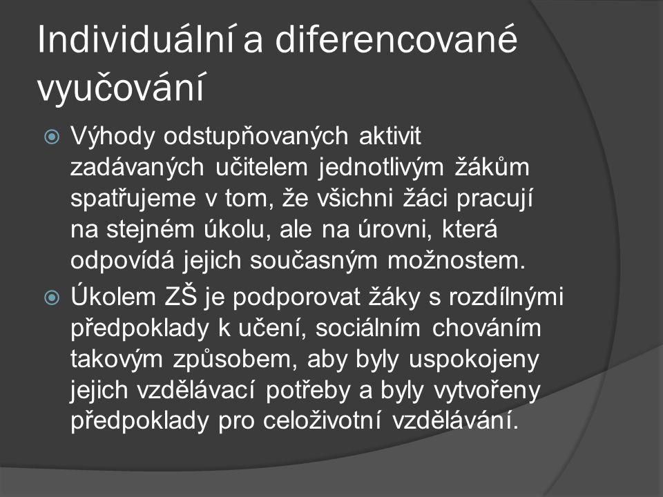 Individuální a diferencované vyučování