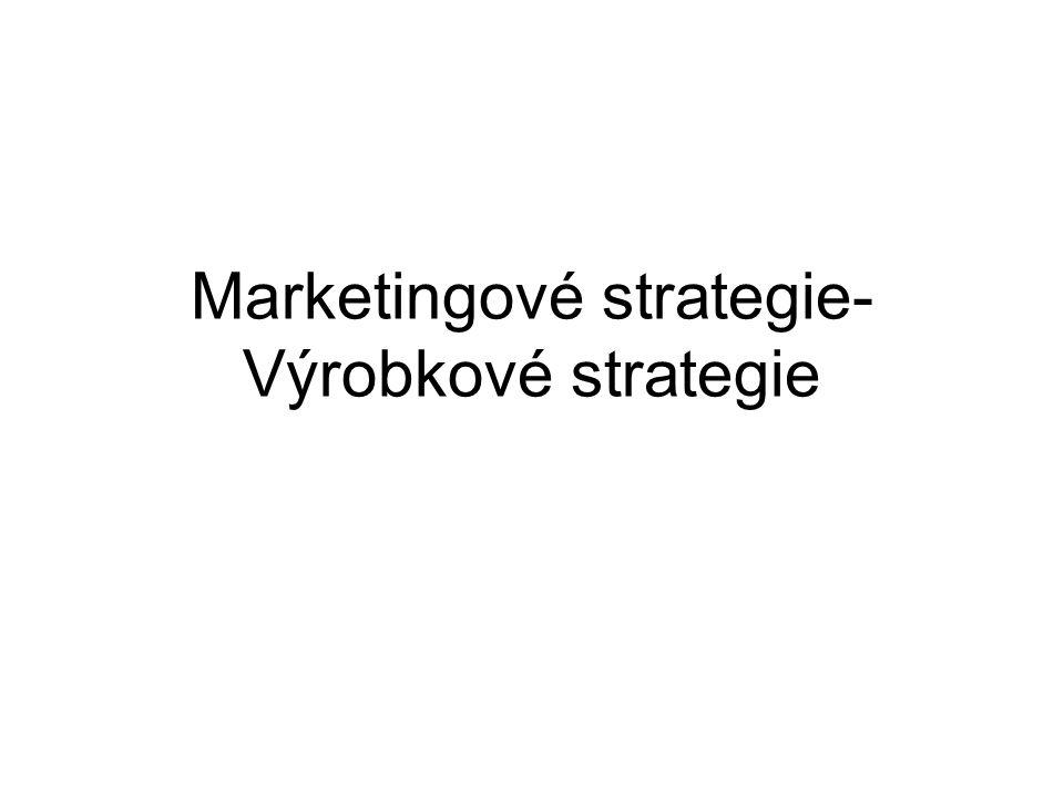 Marketingové strategie- Výrobkové strategie