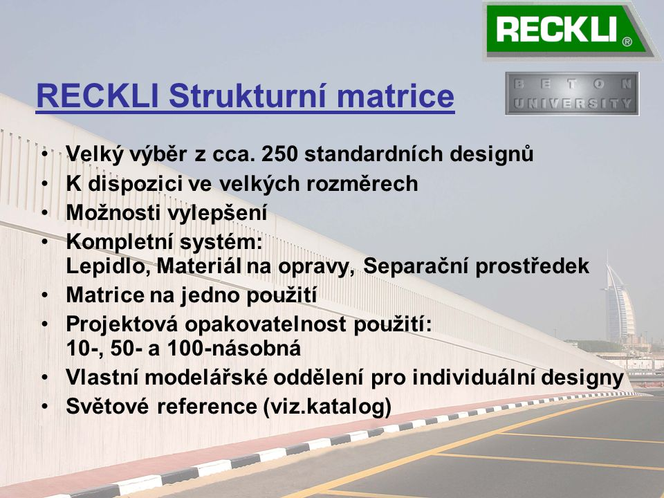 RECKLI Strukturní matrice