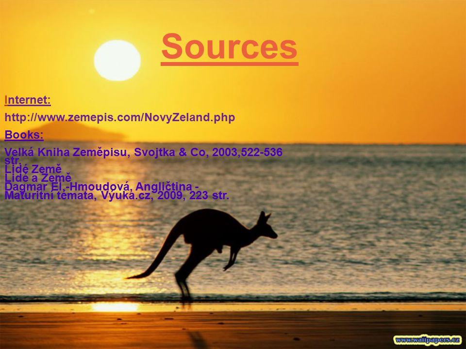 Sources Internet: http://www.zemepis.com/NovyZeland.php Books: