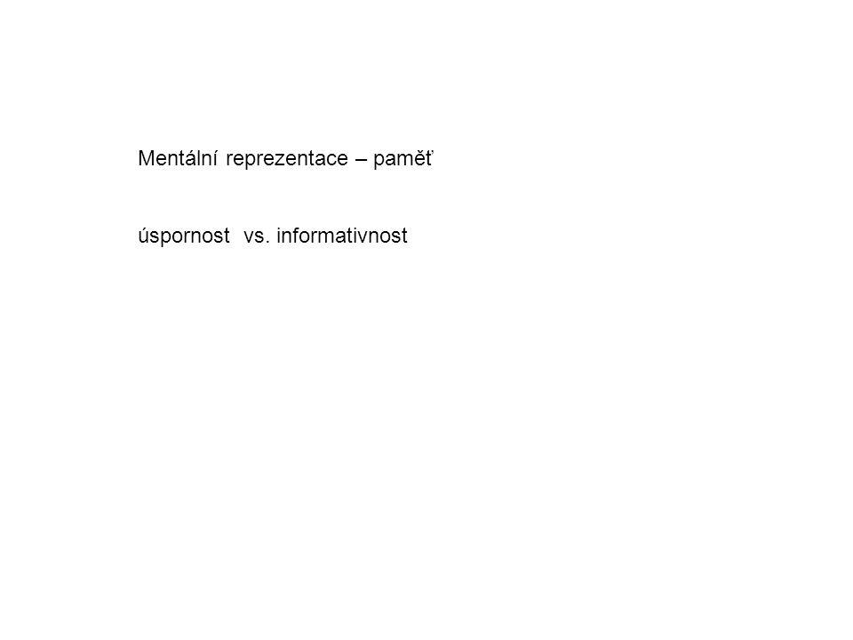 Mentální reprezentace – paměť