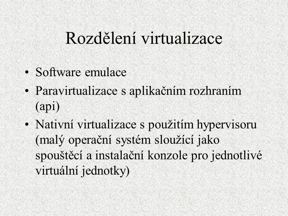 Rozdělení virtualizace