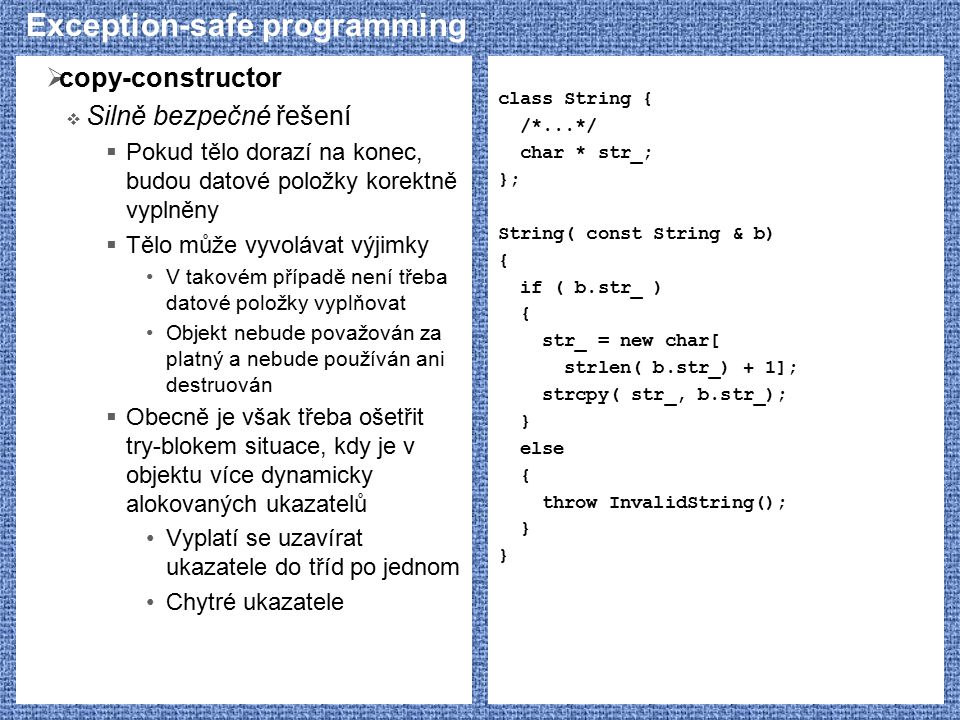 Exception-safe programming