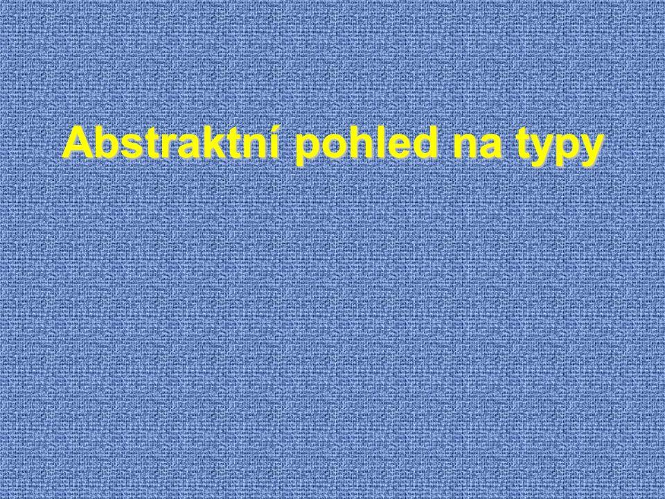 Abstraktní pohled na typy