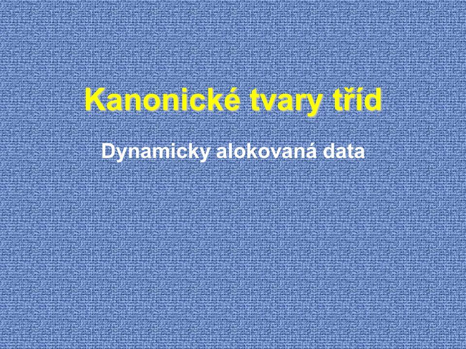 Dynamicky alokovaná data