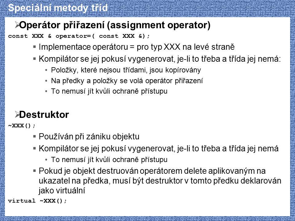 Operátor přiřazení (assignment operator)