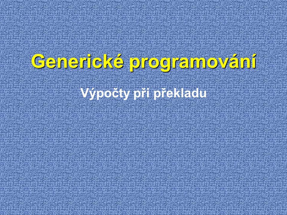 Generické programování