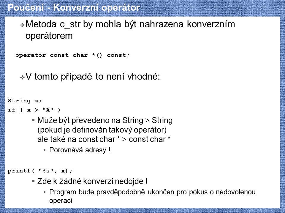 Poučení - Konverzní operátor
