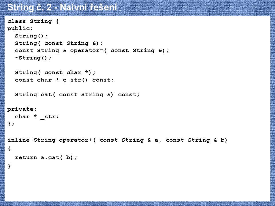 String č. 2 - Naivní řešení