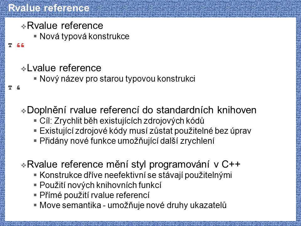 Doplnění rvalue referencí do standardních knihoven