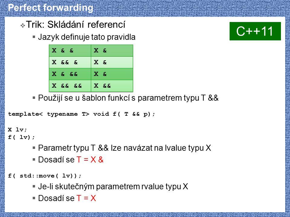 C++11 Perfect forwarding Trik: Skládání referencí