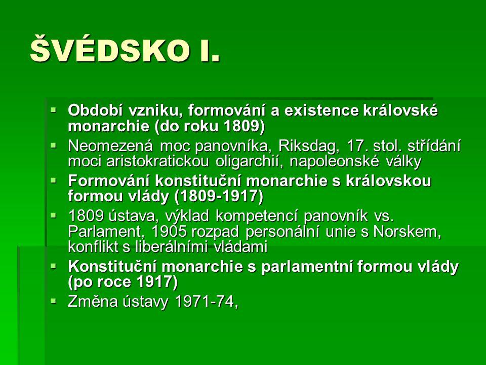 ŠVÉDSKO I. Období vzniku, formování a existence královské monarchie (do roku 1809)