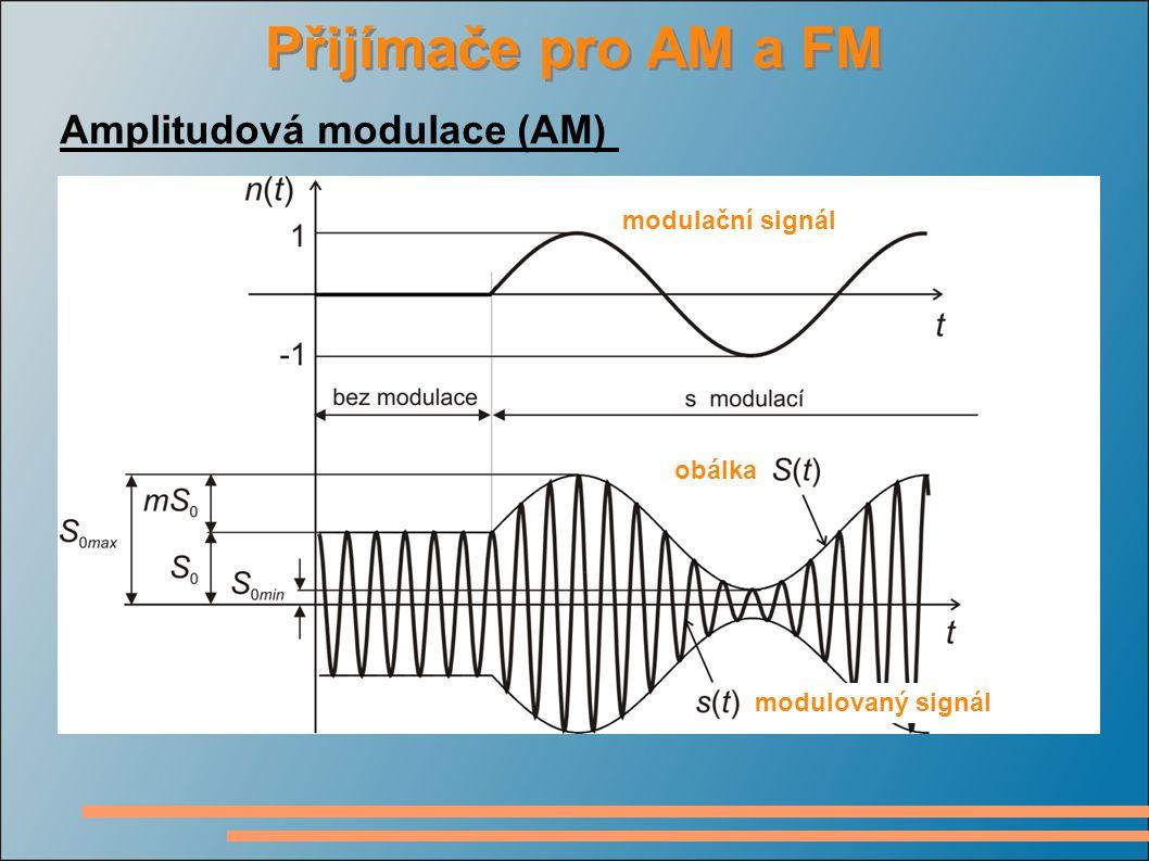 Přijímače pro AM a FM Amplitudová modulace (AM) modulační signál