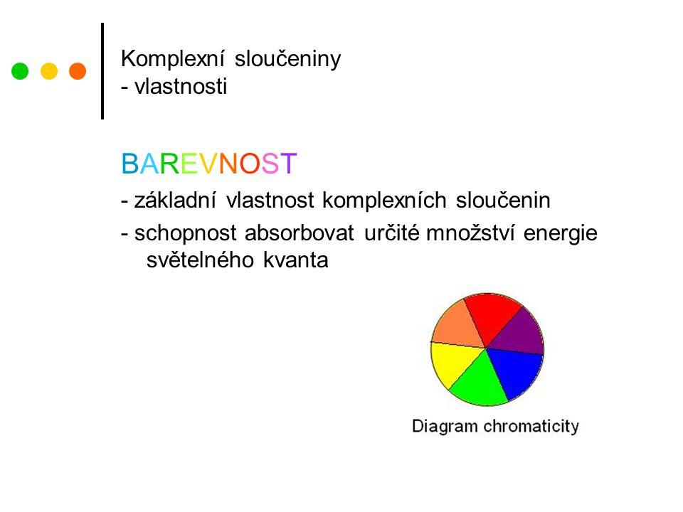 Komplexní sloučeniny - vlastnosti