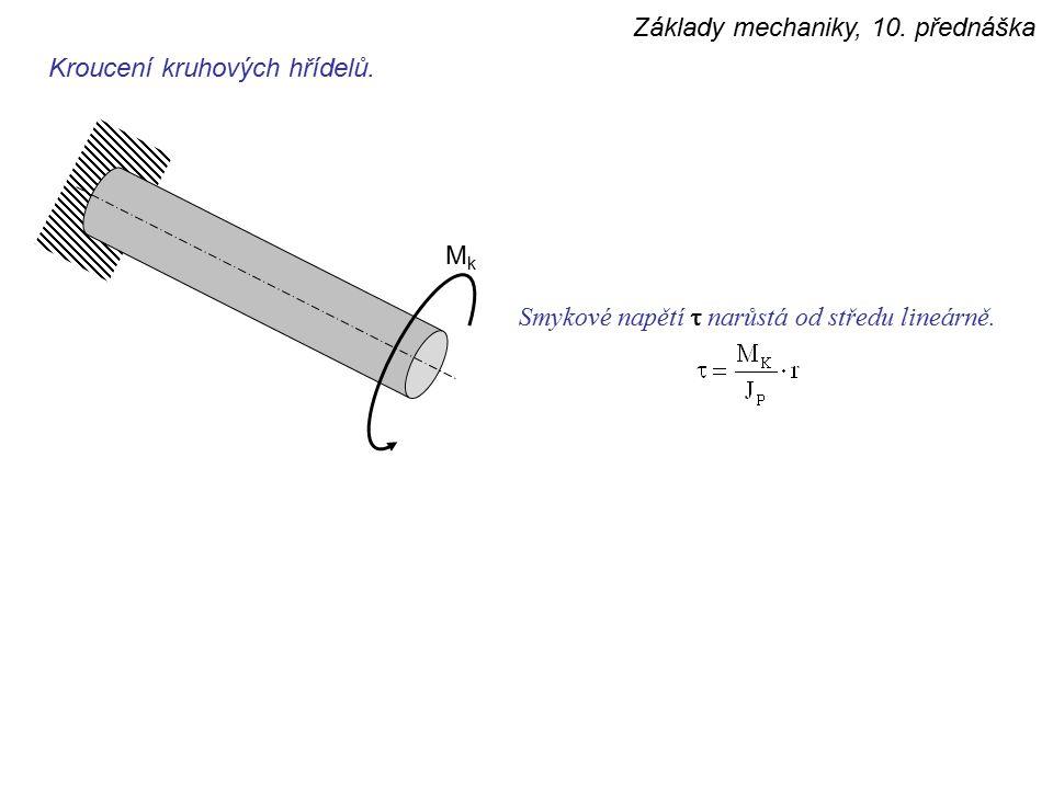 Základy mechaniky, 10. přednáška