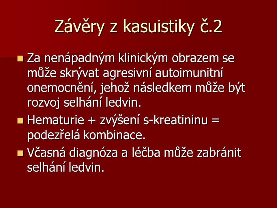 Závěry z kasuistiky č.2