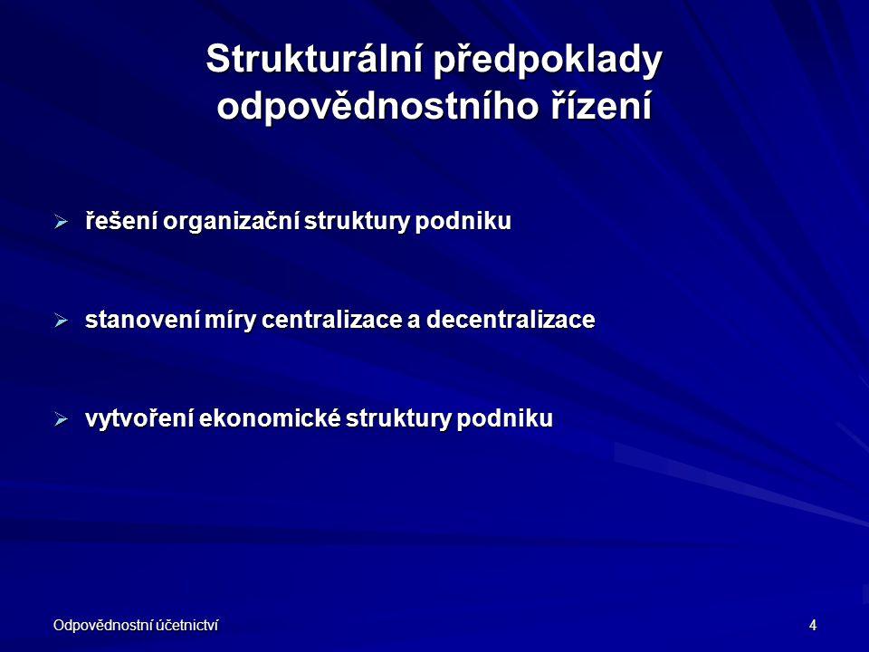 Strukturální předpoklady odpovědnostního řízení