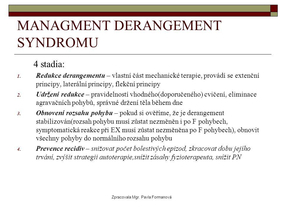 MANAGMENT DERANGEMENT SYNDROMU