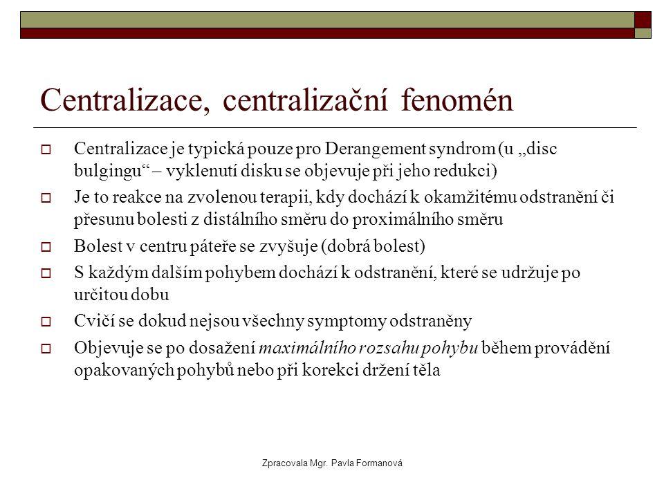 Centralizace, centralizační fenomén