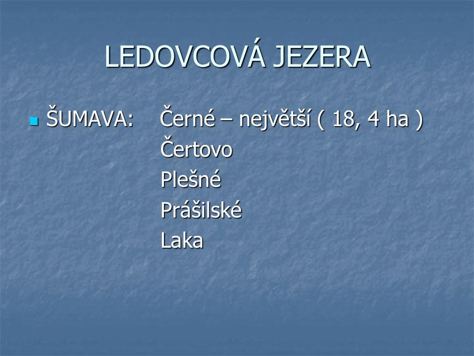 LEDOVCOVÁ JEZERA ŠUMAVA: Černé – největší ( 18, 4 ha ) Čertovo Plešné