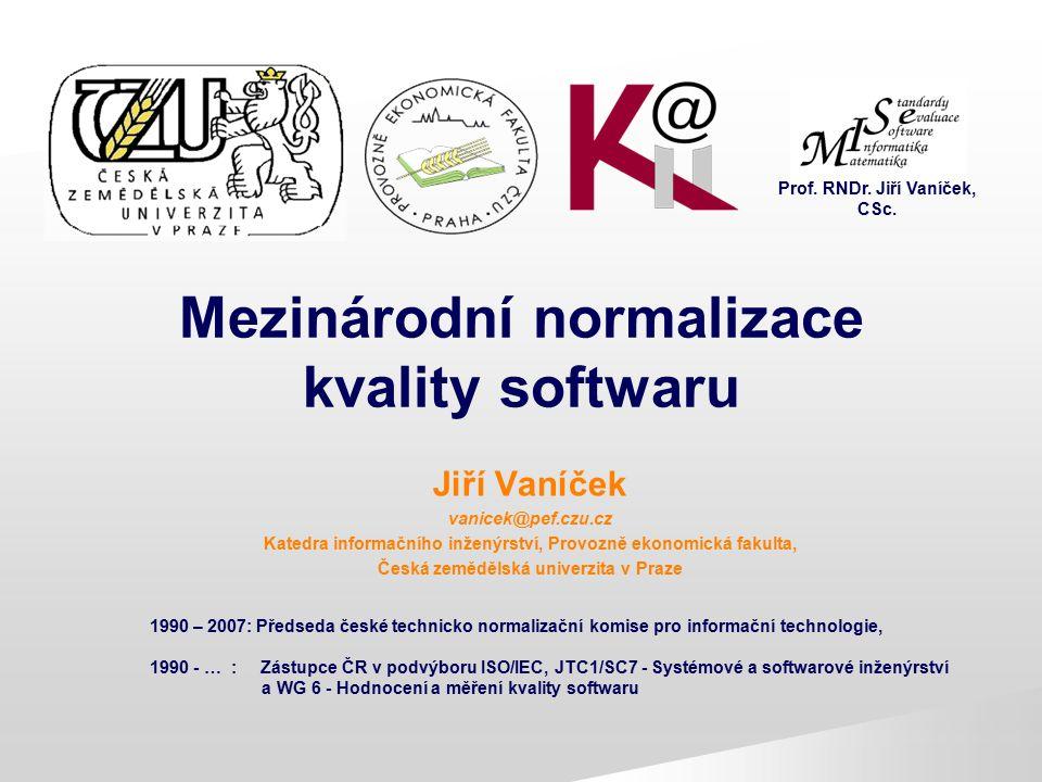 Mezinárodní normalizace kvality softwaru
