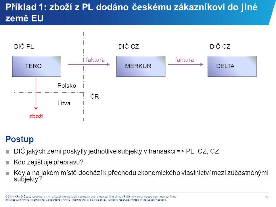 Příklad 1 – varianta A) dopravu zajistí TERO