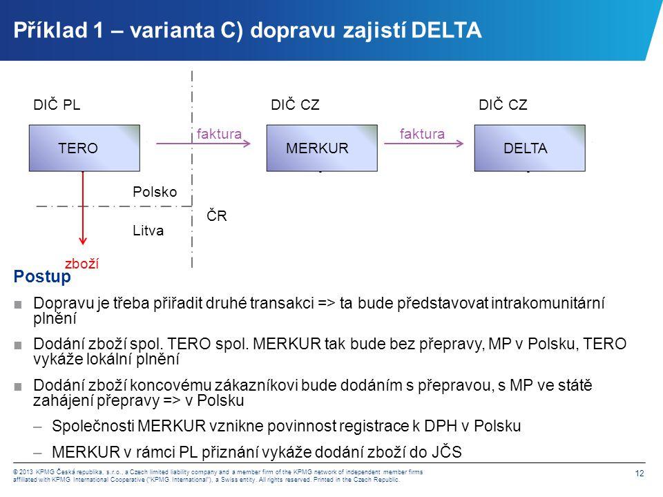 Příklad 2 – zboží z CZ dodáno na Slovensko