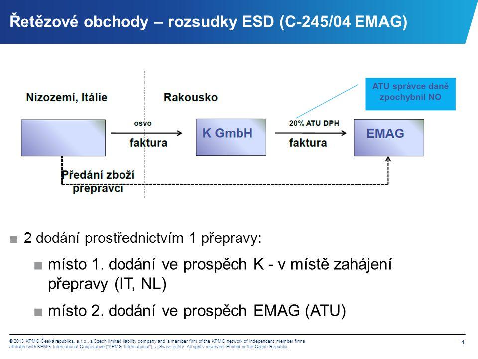 Řetězové obchody – rozsudky ESD (C-245/04 EMAG)
