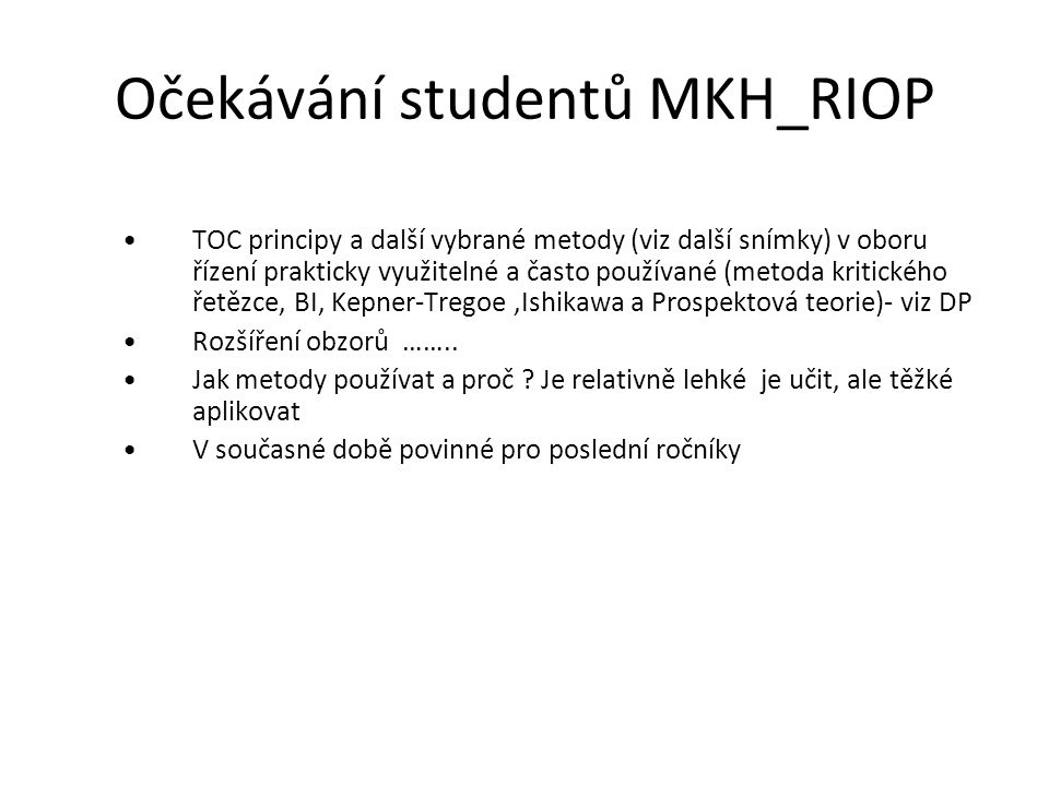 Očekávání studentů MKH_RIOP
