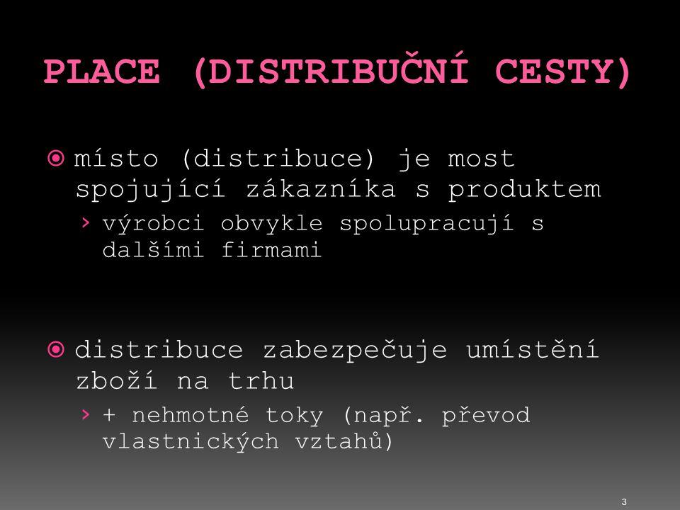 PLACE (DISTRIBUČNÍ CESTY)