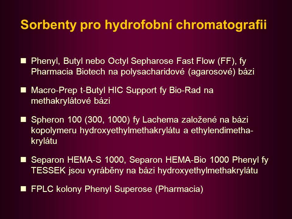 Sorbenty pro hydrofobní chromatografii
