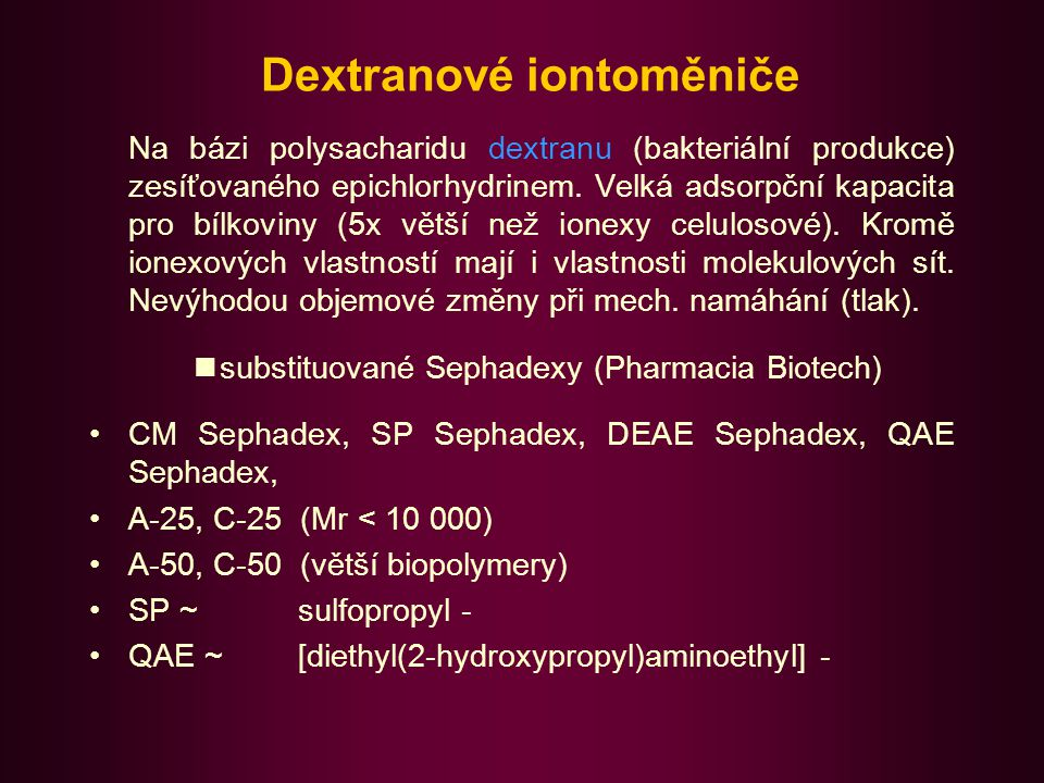 Dextranové iontoměniče