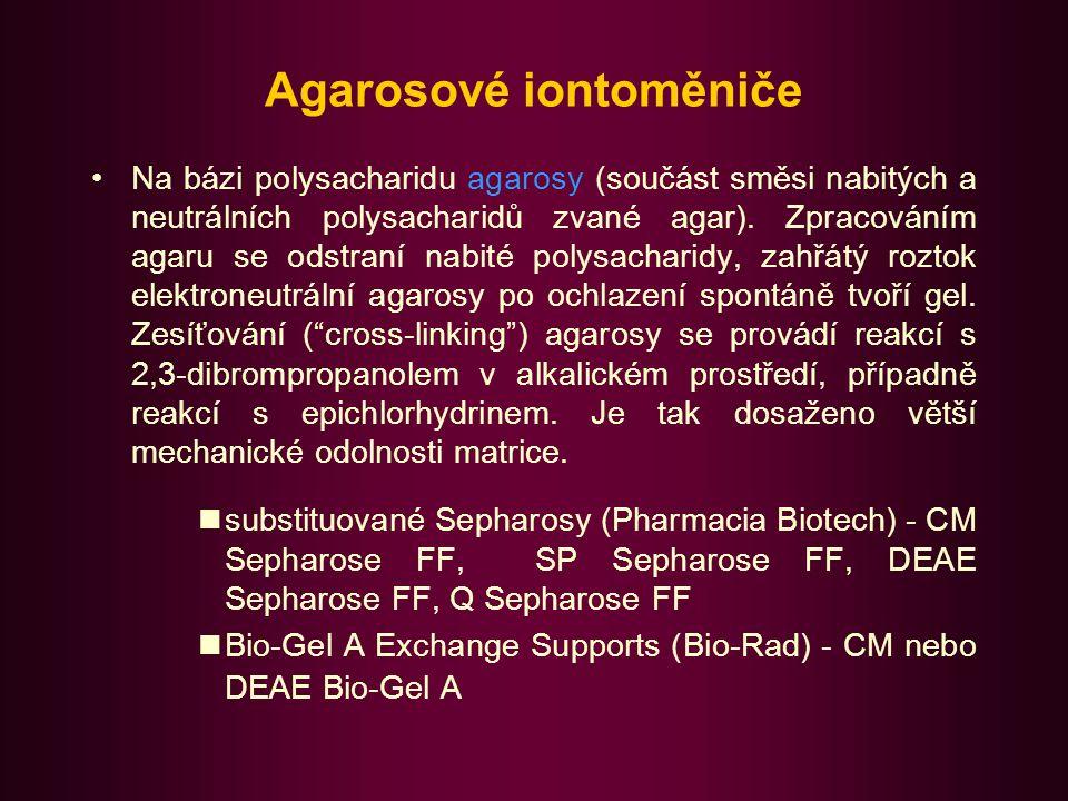 Agarosové iontoměniče