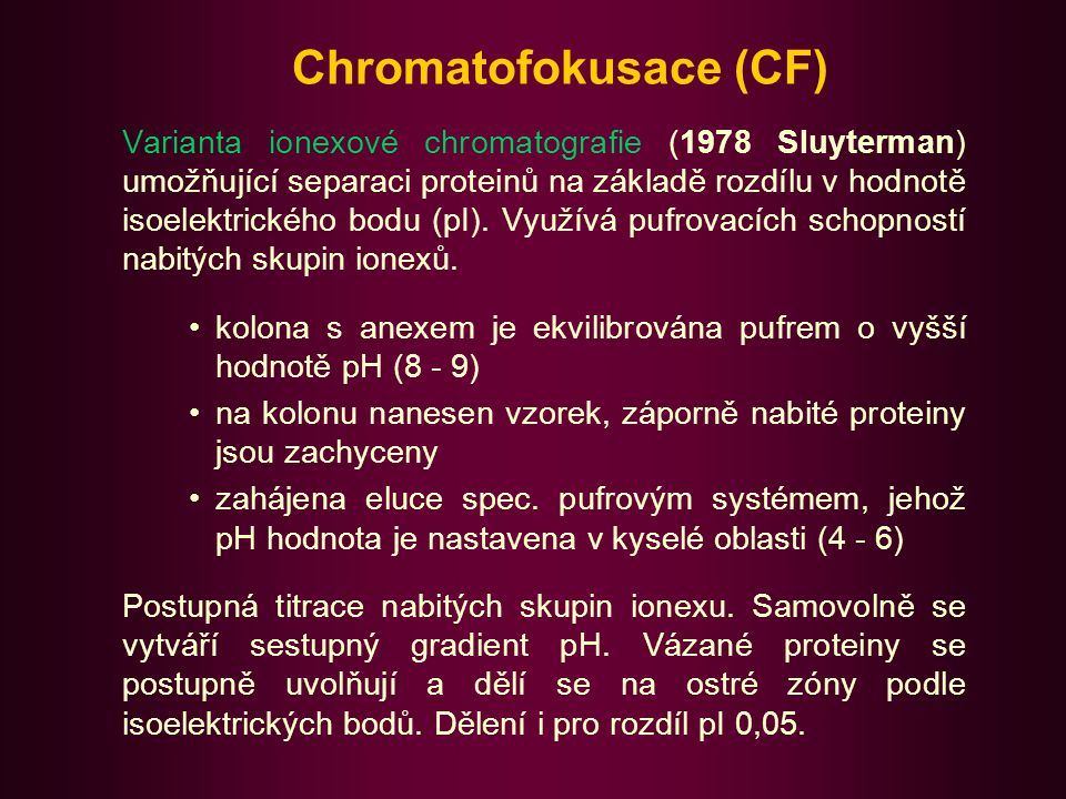 Chromatofokusace (CF)