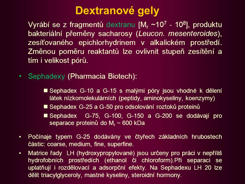 Dextranové gely