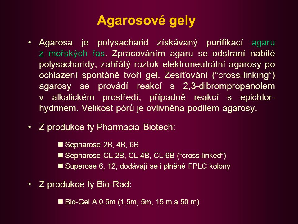 Agarosové gely