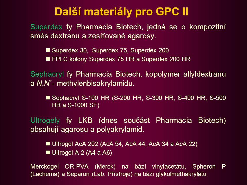 Další materiály pro GPC II