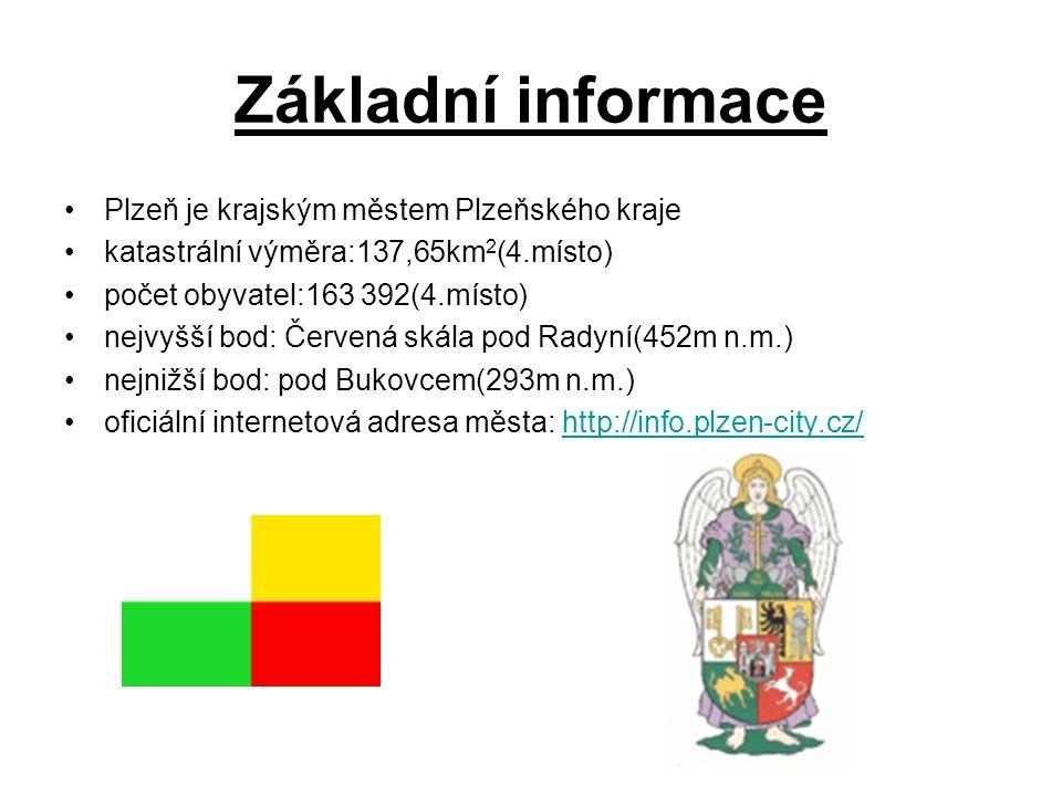 Základní informace Plzeň je krajským městem Plzeňského kraje