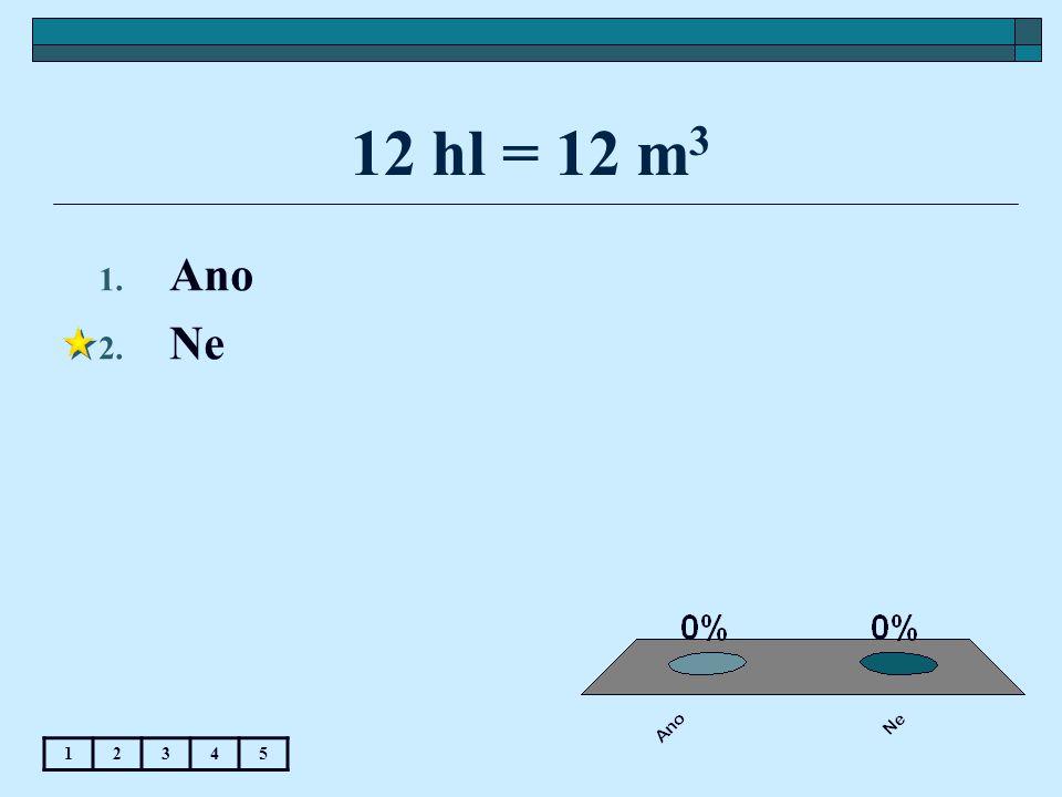 12 hl = 12 m3 Ano Ne 1 2 3 4 5