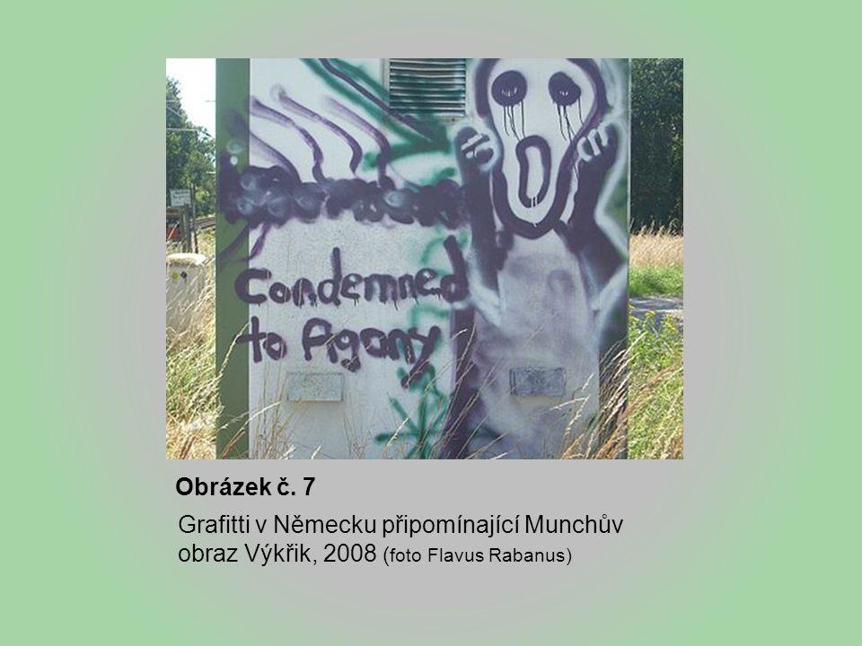 Obrázek č. 7 Grafitti v Německu připomínající Munchův obraz Výkřik, 2008 (foto Flavus Rabanus)