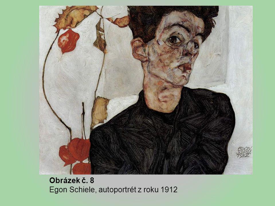 Obrázek č. 8 Egon Schiele, autoportrét z roku 1912