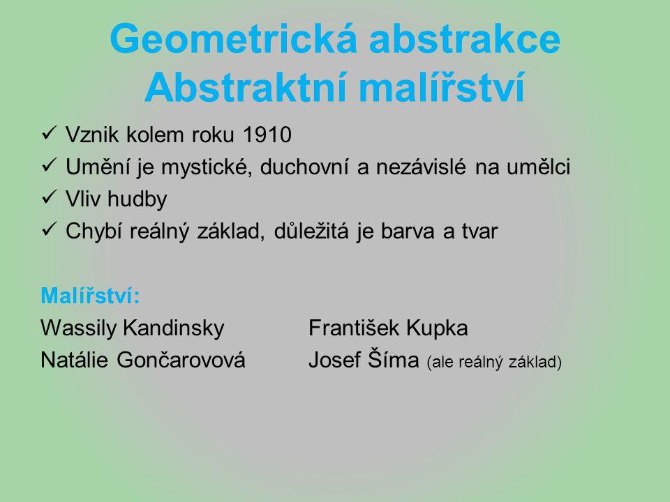 Geometrická abstrakce Abstraktní malířství